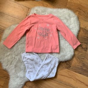 Carters Girls Christmas Holiday Pajamas Size 4T